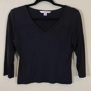 Victoria's Secret 100% Spun Silk Crop Shirt